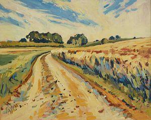 Route des champs le long du grain d'or, Schimmert sur Nop Briex