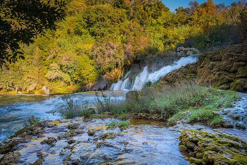 Waterval in Krka Nationaal Park, Kroatië