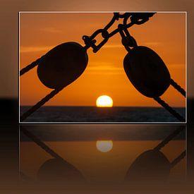 Caribian Sunset van Bob de Bruin