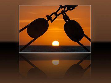 Karibischer Sonnenuntergang von Bob de Bruin