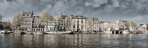 Aan de Amstel zwart-wit, Amsterdam