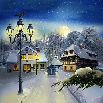 Winterzeit mit Oldtimer von Monika Jüngling