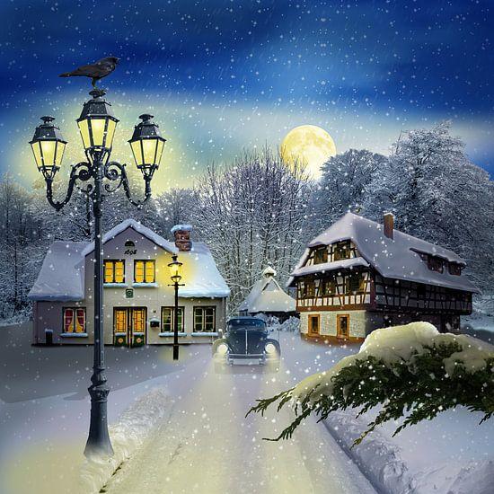 Wintertijd door vintage