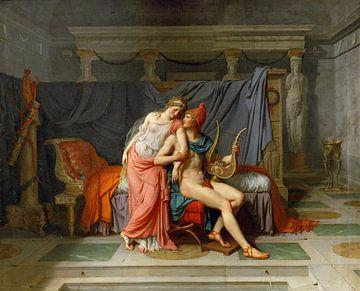 Die Liebe zwischen Paris und Helena, Jacques-Louis David - 1788 von Atelier Liesjes
