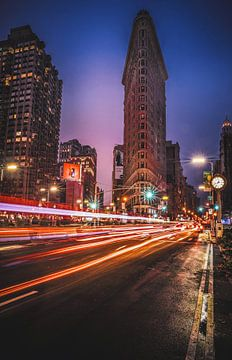 Flat Iron Building - lichtsporen van Joris Pannemans - Loris Photography