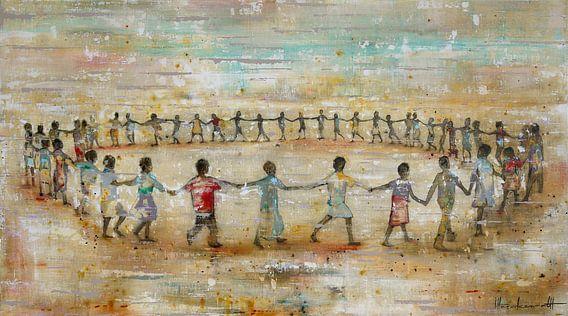Circle of Happiness van Atelier Paint-Ing