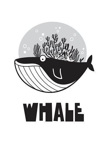 Kinderkamer Zwart Wit - Sea Adventure Whale von STUDIO 68