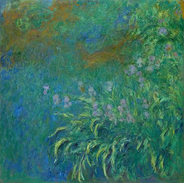 Irises, Claude Monet sur