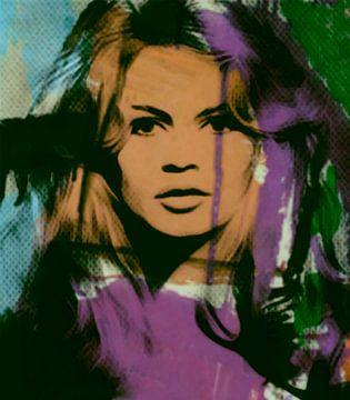 Brigitte Bardot - Modern Art - 01 van Felix von Altersheim