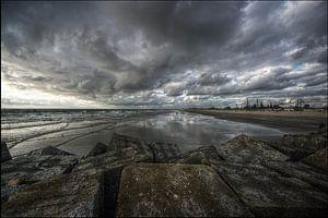 Noordpier in Wijk aan Zee van Mike Bing