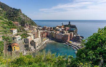 Uitzicht op Vernazza, Cinque Terre van Reis Genie