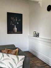 Kundenfoto: Stilleben mit Astrantia-Zeeuws-Knoten von Karin Bazuin, auf leinwand
