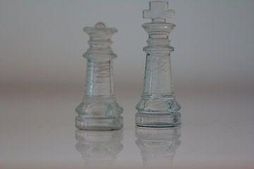 Glazen Koning en Dame van het schaakspel van Capture the Moment 010