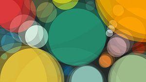 Kleurrijke cirkelsamenvatting van
