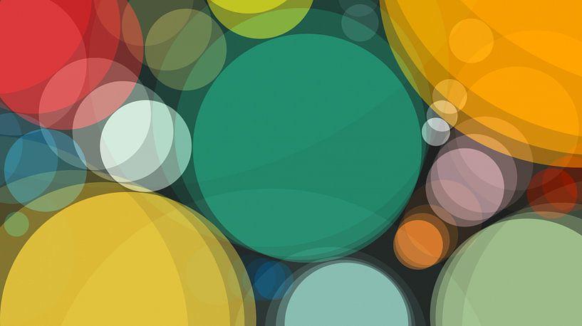 Bunte Kreise abstrakt von Marion Tenbergen