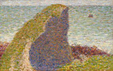 Studie voor Le Bec du Hoc, Grandcamp, Georges Seurat, Georges Seurat. van