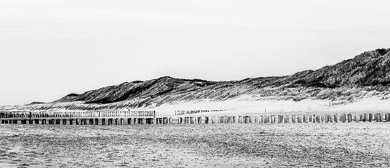 Panorama strand Domburg van Daniël Steenbergen