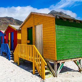 Kleurrijke Bo-kaap, Kaapstad, Zuid-Afrika. van Willem Vernes