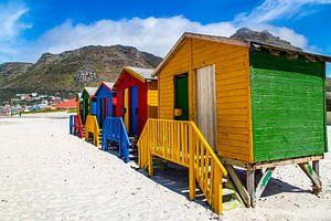 Kleurrijke Bo-kaap, Kaapstad, Zuid-Afrika. van