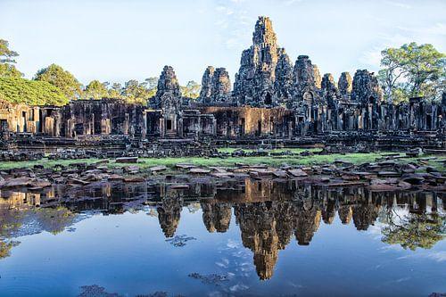 ANGKOR WAT, CAMBODIA, DECEMBER 5 2015 - Ruines van de Bayon tempel in Angkor Wat te Cambodja. van