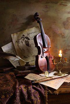 Stilleven met viool, Andrey Morozov van 1x