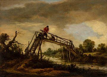 Paysage avec pont, Pieter de Molijn sur