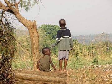 Kinderen in Malawi van Fred Fiets