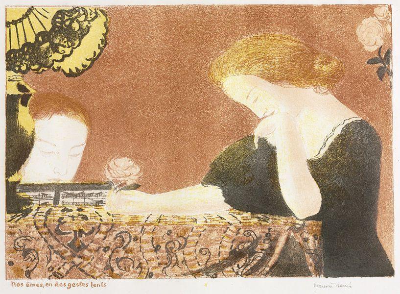 Unsere Seelen, in kleinen Gesten, Maurice Denis, Liebe - 1911 von Atelier Liesjes