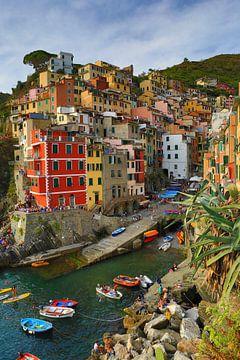 Riomaggiore Cinque Terre Italie van Jasper van de Gein Photography