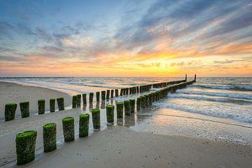 Sur la plage de la mer du Nord à Domburg