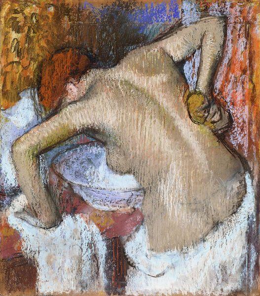 Frau bei der Toilette, Edgar Degas von Meesterlijcke Meesters
