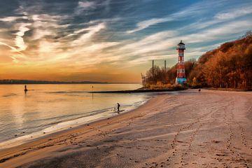 Hamburg - Leuchtturm Rissen von Sabine Wagner
