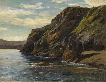 Carlos de Haes-Kustststeen Berglandschaft, Küstenlandschaft, antike Landschaft