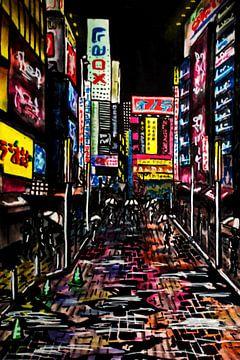 Zeichnung von Tokio von Lonneke Kolkman