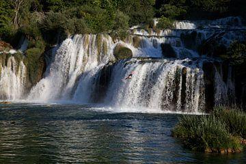 Tauchen Sie von einem Wasserfall aus 2 von Daan Ruijter