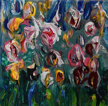 Veld van Tulpen geïnspireerd op de Keukenhof