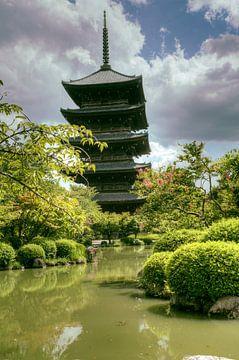 Pagode in Japan van Sander van Geest