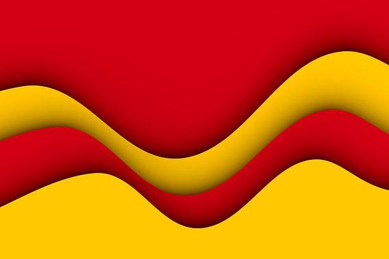 Golven rood en geel