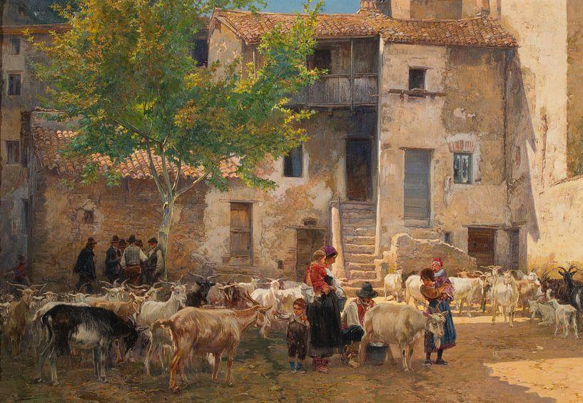 Mariano Barbasán~Zeit zum Melken in anticolli Corrado von finemasterpiece