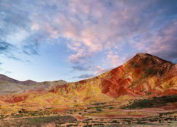 China Sonnenuntergangslandschaft Himalayagebirge von Jeroen Mikkers