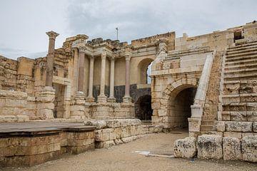 Romeinse ruines in Bet She An in Israel, theater van Joost Adriaanse