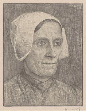 Johan Cohen, Portret van een onbekende vrouw, 1908 van Atelier Liesjes