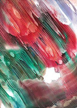 Rood groene regen van Bethina de Reus