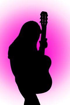Frau mit Gitarre von BVpix