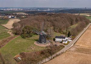 Mühle an der Vrouwenheide in Südlimburg von John Kreukniet
