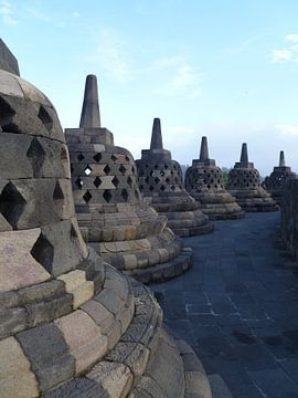 Borobudur Yogyakarta (Java Indonesië) von Martin van den Berg Mandy Steehouwer