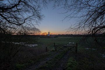 Le moulin du soleil levant Le papillon à Deil sur Moetwil en van Dijk - Fotografie