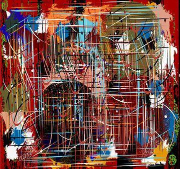 abstract kunstwerk op een regenachtige en winderige dag van EL QOCH