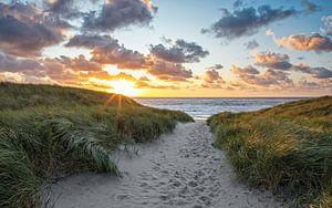 Entrée de la plage à Texel sur