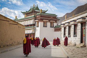 Het Labrang Klooster, Xiahe, China van Frank Verburg